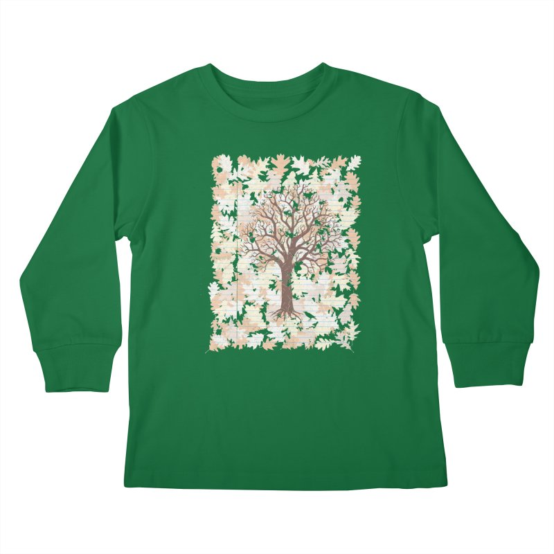 Loose Leaf Kids Longsleeve T-Shirt by Made With Awesome
