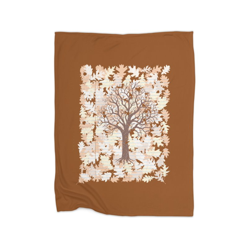 Loose Leaf Home Blanket by Made With Awesome