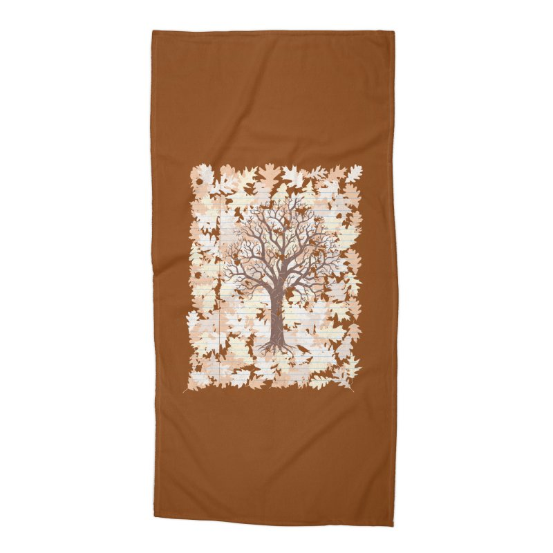 Loose Leaf Accessories Beach Towel by Made With Awesome