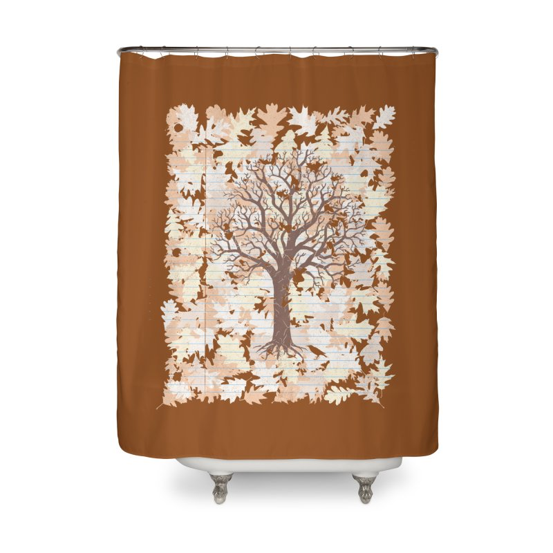 Loose Leaf Home Shower Curtain by Made With Awesome