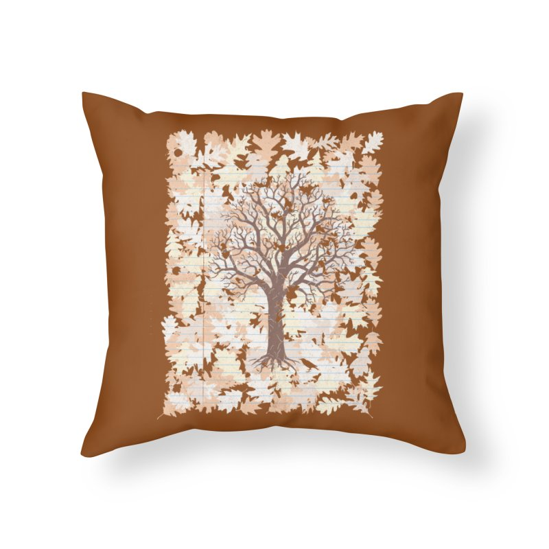 Loose Leaf Home Throw Pillow by Made With Awesome