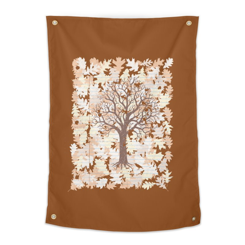 Loose Leaf Home Tapestry by Made With Awesome