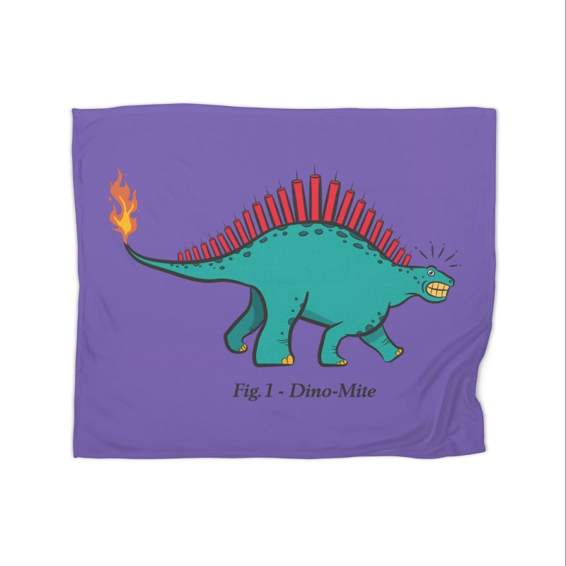 Dino-mite Home Blanket by Made With Awesome