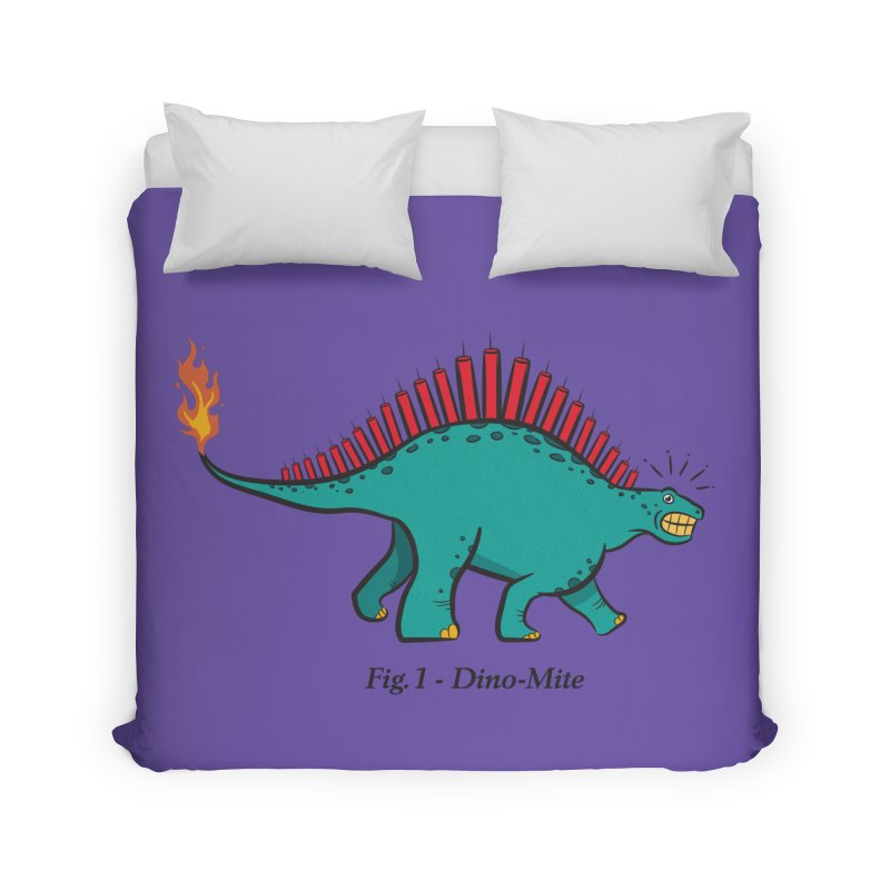 Dino-mite Home Duvet by Made With Awesome