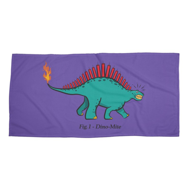 Dino-mite Accessories Beach Towel by Made With Awesome