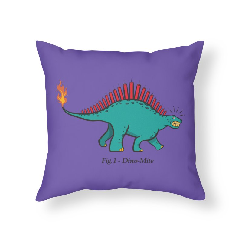 Dino-mite Home Throw Pillow by Made With Awesome