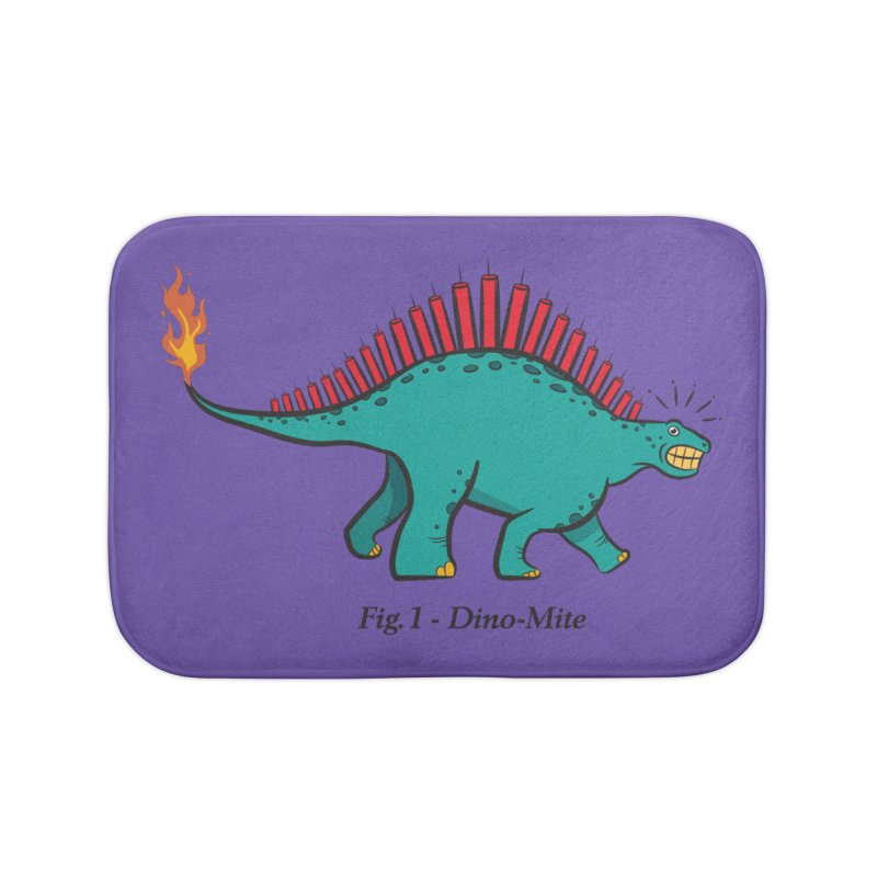 Dino-mite Home Bath Mat by Made With Awesome