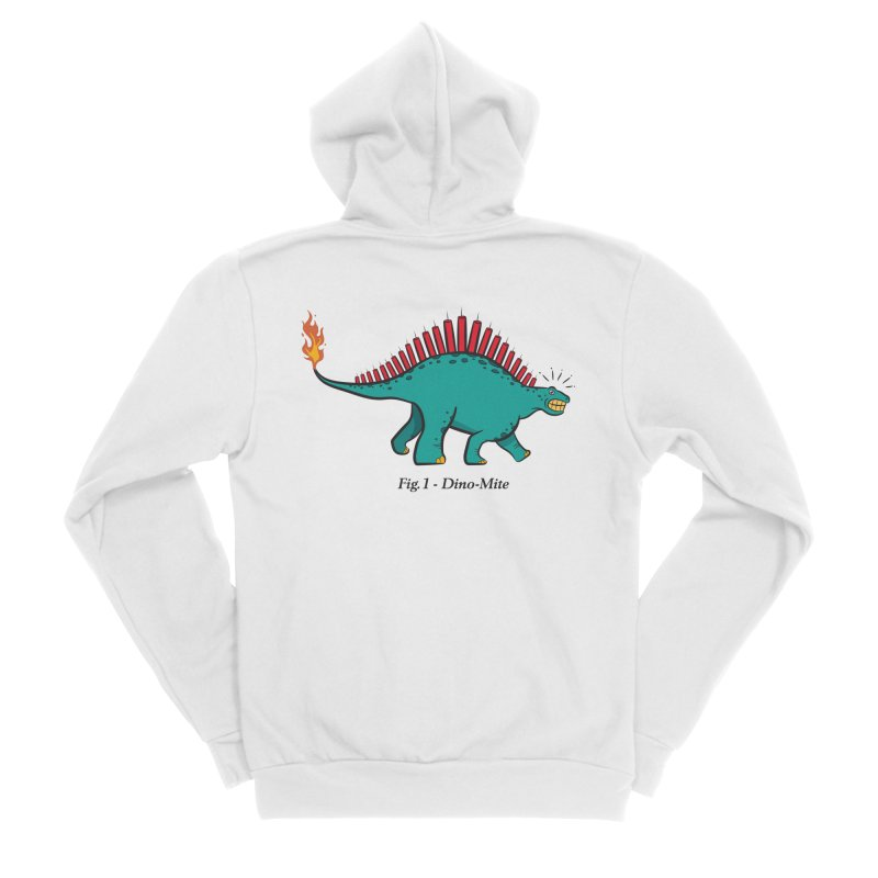 Dino-mite Men's Sponge Fleece Zip-Up Hoody by Made With Awesome