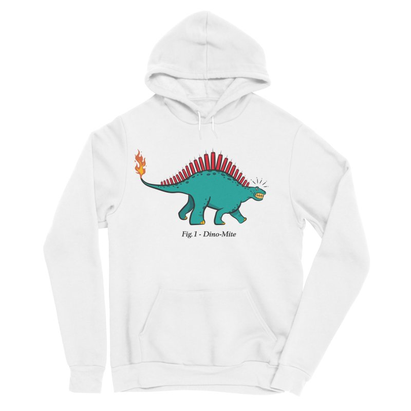 Dino-mite Men's Sponge Fleece Pullover Hoody by Made With Awesome