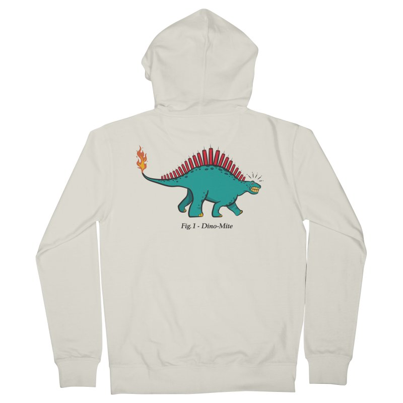 Dino-mite Women's French Terry Zip-Up Hoody by Made With Awesome