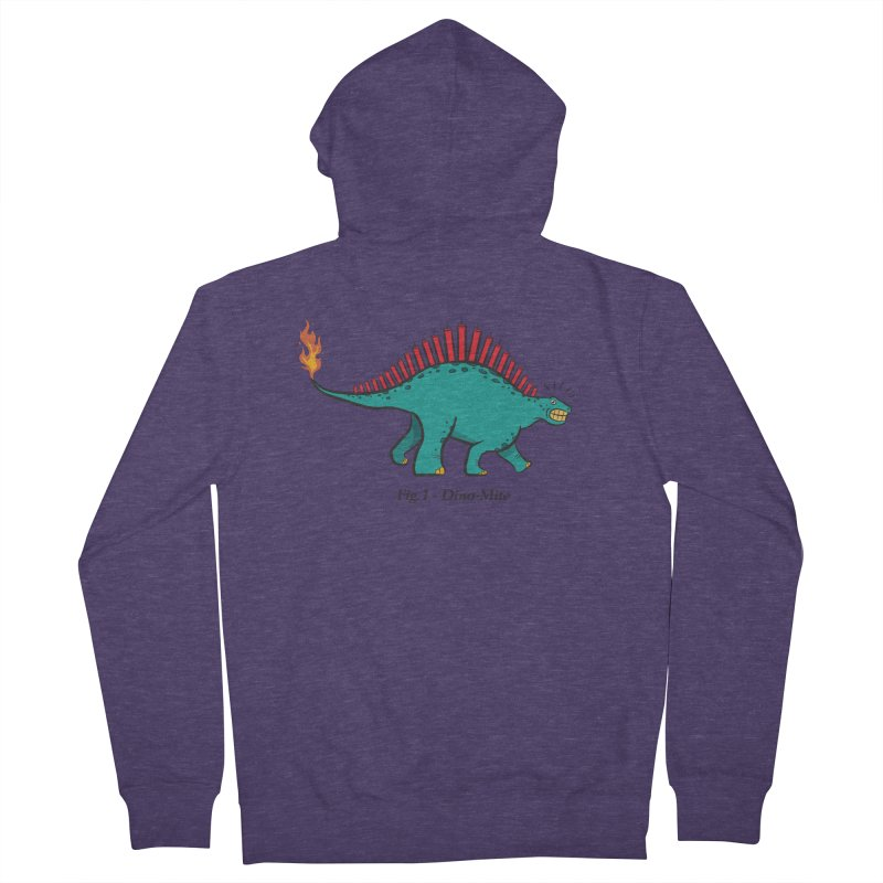 Dino-mite Men's French Terry Zip-Up Hoody by Made With Awesome