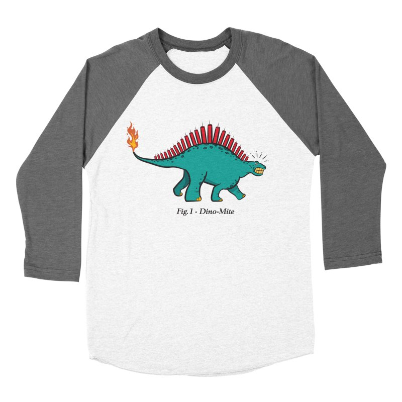 Dino-mite Women's Baseball Triblend Longsleeve T-Shirt by Made With Awesome