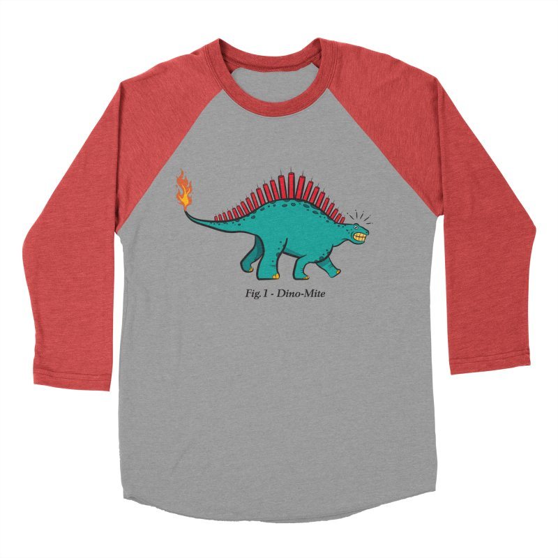Dino-mite Men's Baseball Triblend Longsleeve T-Shirt by Made With Awesome