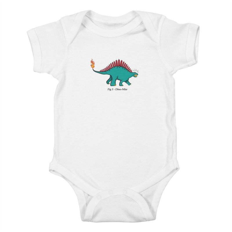 Dino-mite Kids Baby Bodysuit by Made With Awesome