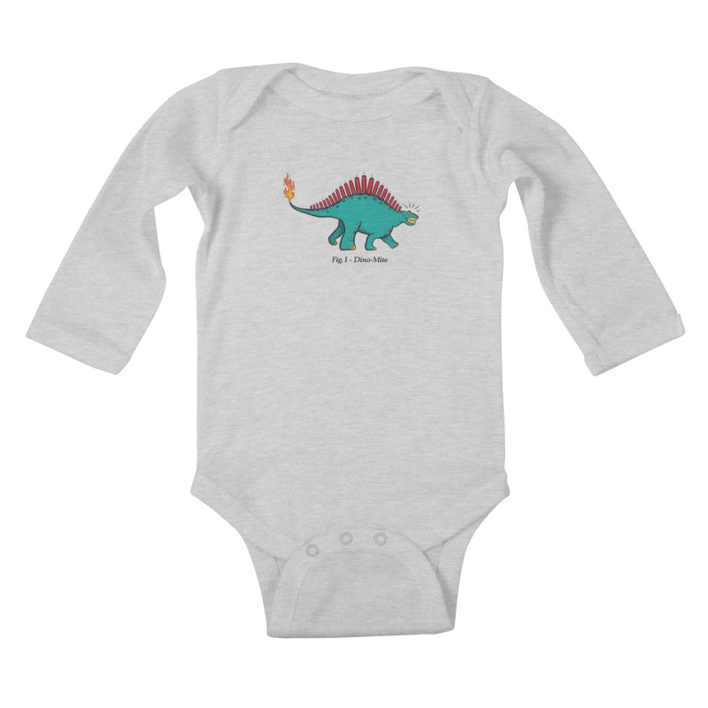 Dino-mite Kids Baby Longsleeve Bodysuit by Made With Awesome