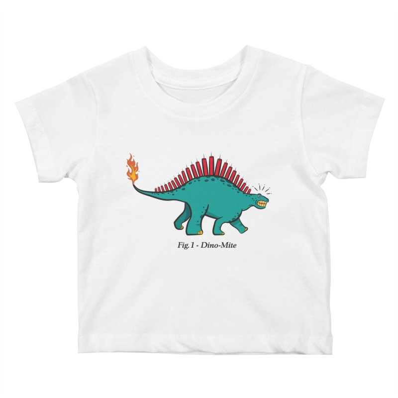 Dino-mite Kids Baby T-Shirt by Made With Awesome