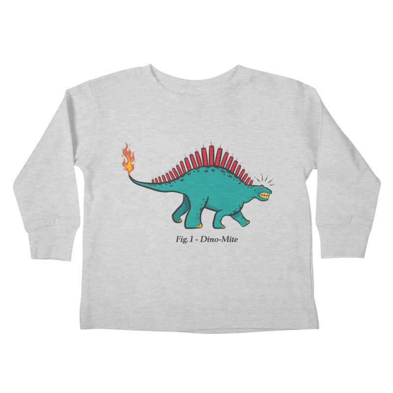 Dino-mite Kids Toddler Longsleeve T-Shirt by Made With Awesome
