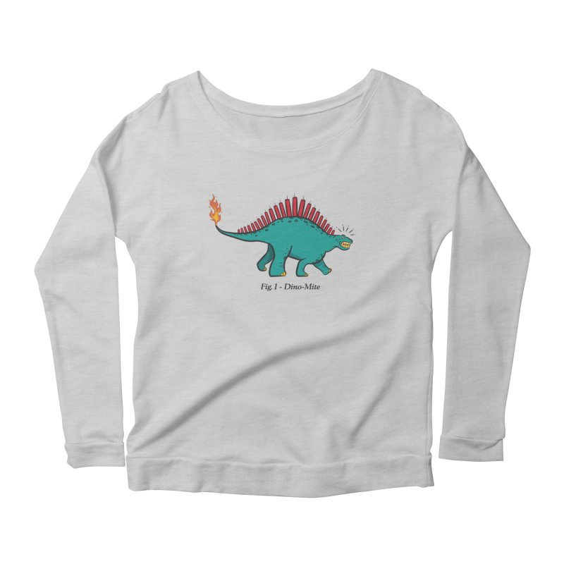 Dino-mite Women's Scoop Neck Longsleeve T-Shirt by Made With Awesome