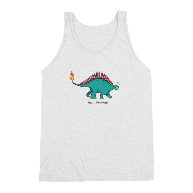 Dino-mite Men's Triblend Tank by Made With Awesome