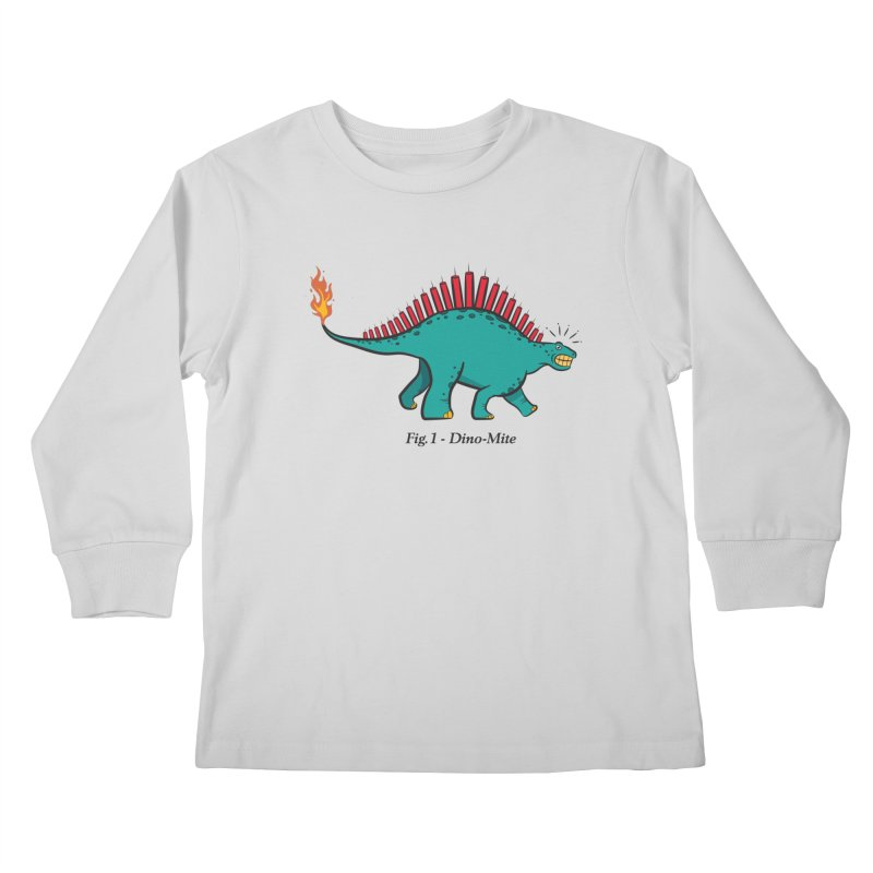 Dino-mite Kids Longsleeve T-Shirt by Made With Awesome