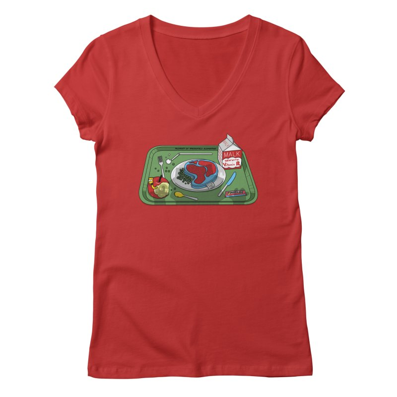 Lisa's Lunchtime Women's Regular V-Neck by Made With Awesome