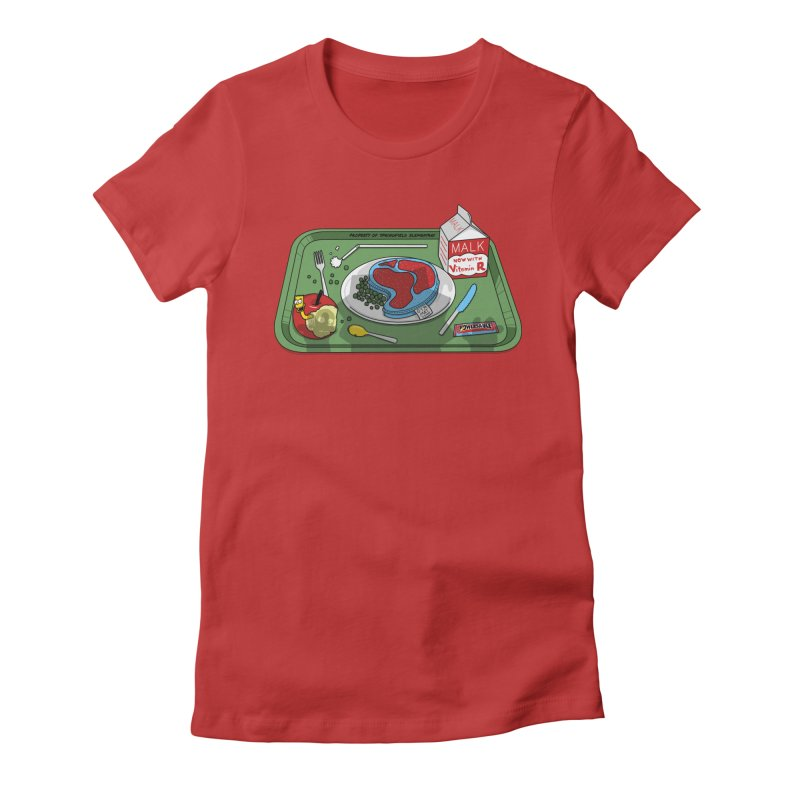 Lisa's Lunchtime Women's Fitted T-Shirt by Made With Awesome