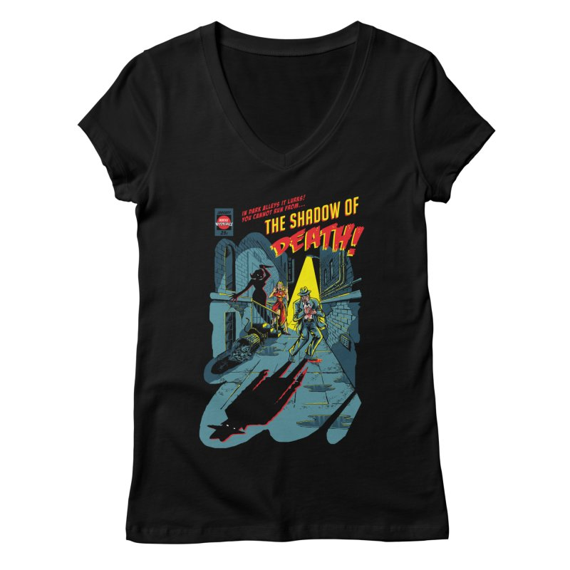 Shadow of Death Women's Regular V-Neck by Made With Awesome