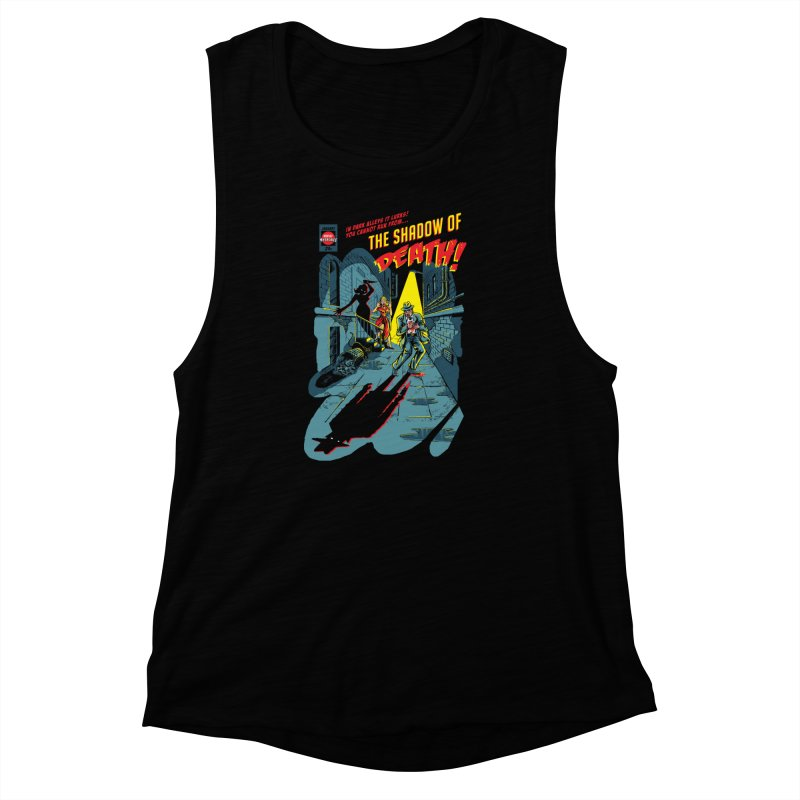 Shadow of Death Women's Muscle Tank by Made With Awesome