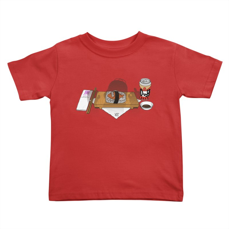 Hungry Hungry Homer Kids Toddler T-Shirt by Made With Awesome