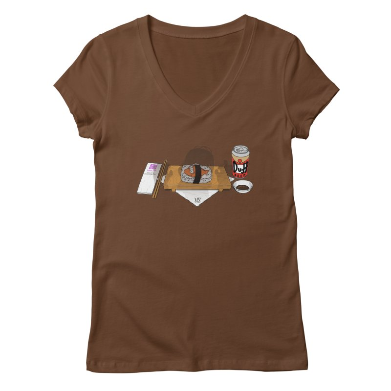 Hungry Hungry Homer Women's Regular V-Neck by Made With Awesome