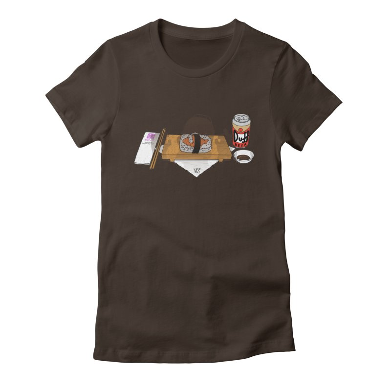 Hungry Hungry Homer Women's Fitted T-Shirt by Made With Awesome