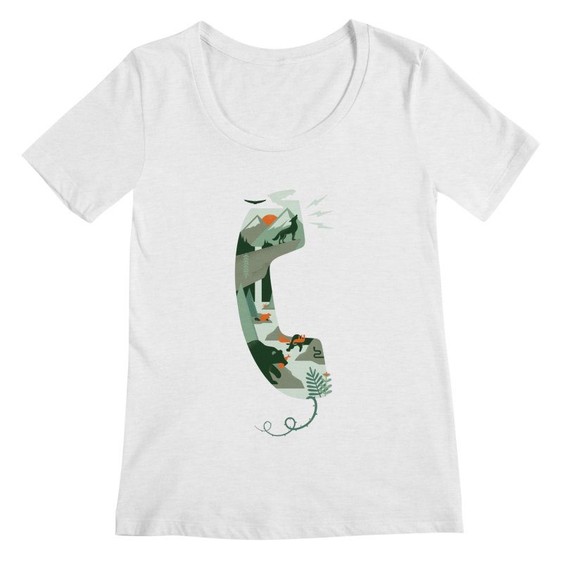 Call of the Wild Women's Regular Scoop Neck by Made With Awesome