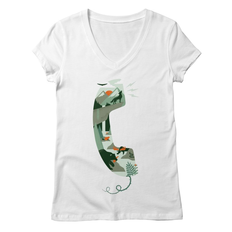 Call of the Wild Women's Regular V-Neck by Made With Awesome