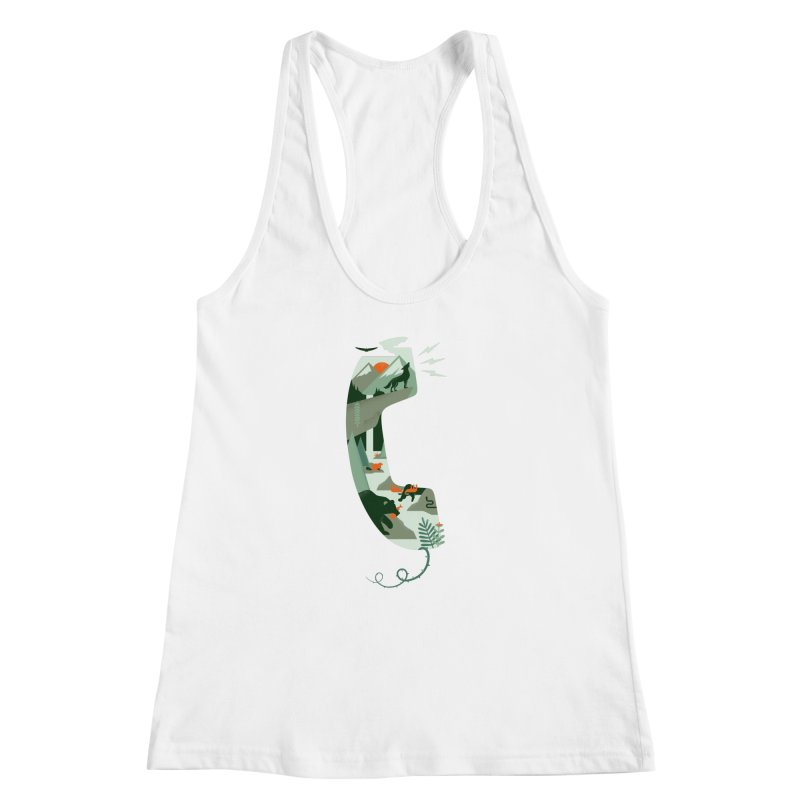 Call of the Wild Women's Racerback Tank by Made With Awesome