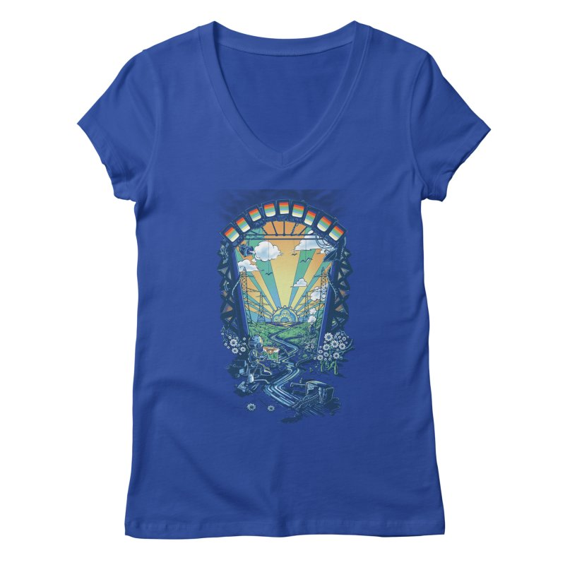 The Robot's Renaissance Women's Regular V-Neck by Made With Awesome