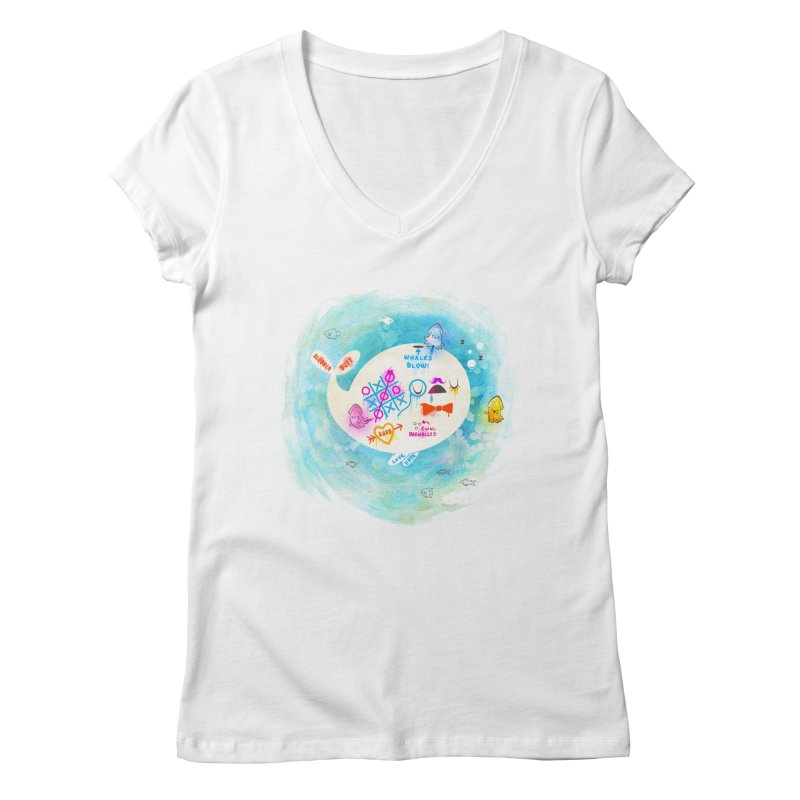 Squidfitti Women's Regular V-Neck by Made With Awesome