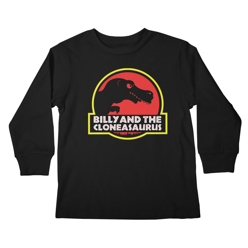 Billy and The Cloneasauras Kids Longsleeve T-Shirt by Made With Awesome