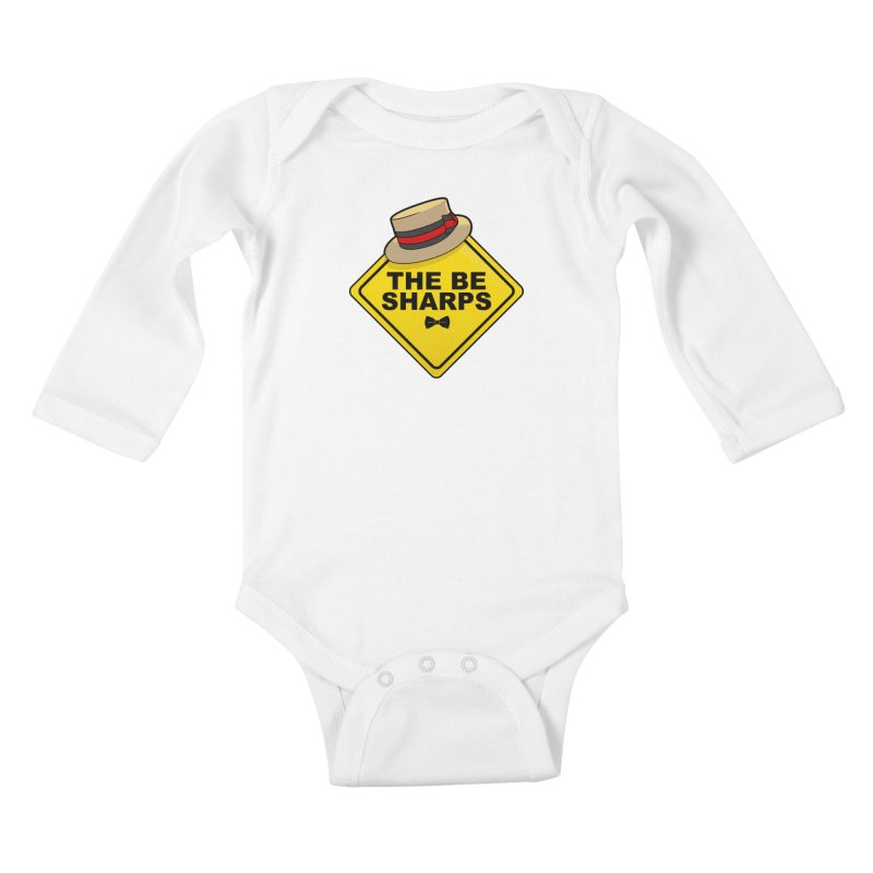 Be Sharps On Board Kids Baby Longsleeve Bodysuit by Made With Awesome