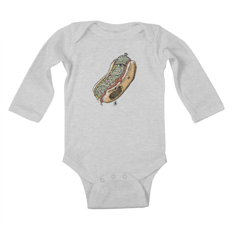 FRANKenstein Kids Baby Longsleeve Bodysuit by Made With Awesome