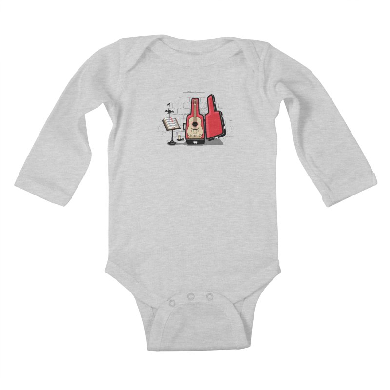 Dracula Unplugged Kids Baby Longsleeve Bodysuit by Made With Awesome