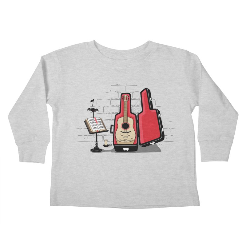 Dracula Unplugged Kids Toddler Longsleeve T-Shirt by Made With Awesome