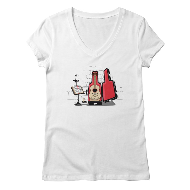 Dracula Unplugged Women's Regular V-Neck by Made With Awesome