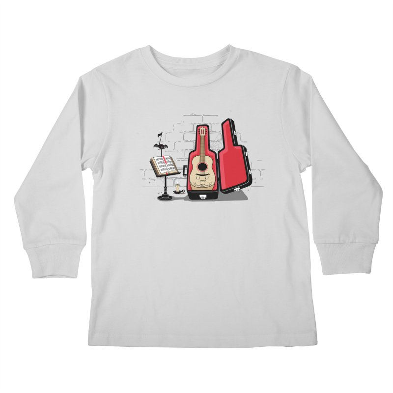 Dracula Unplugged Kids Longsleeve T-Shirt by Made With Awesome