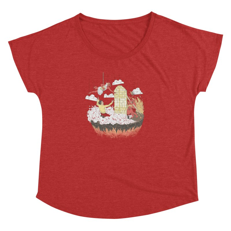 Devil's in the Details Women's Dolman Scoop Neck by Made With Awesome