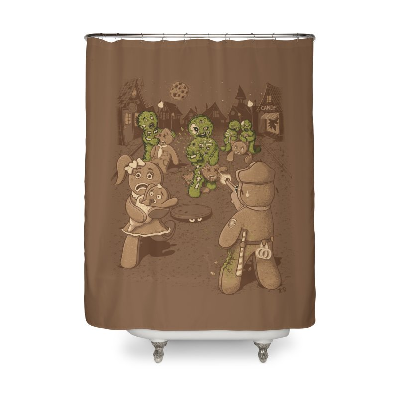 The Walking Bread Home Shower Curtain by Made With Awesome