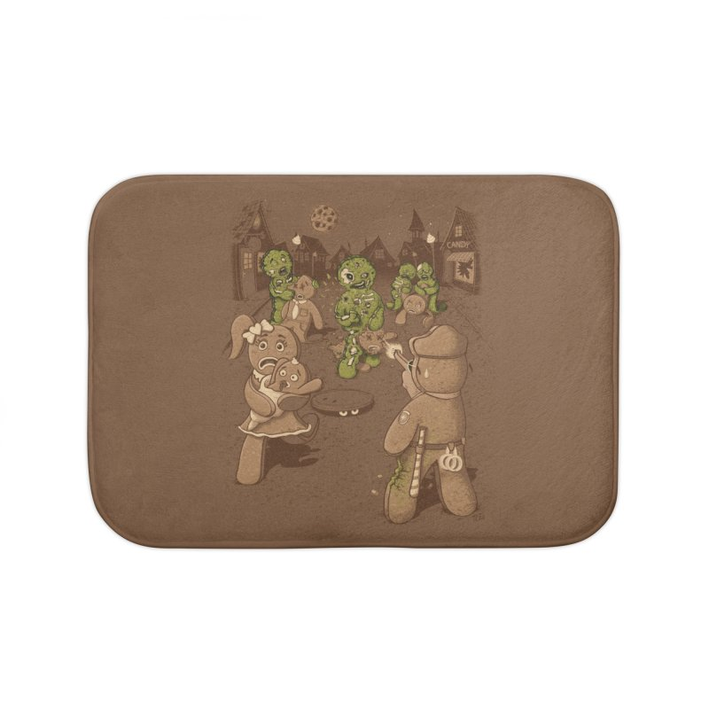 The Walking Bread Home Bath Mat by Made With Awesome