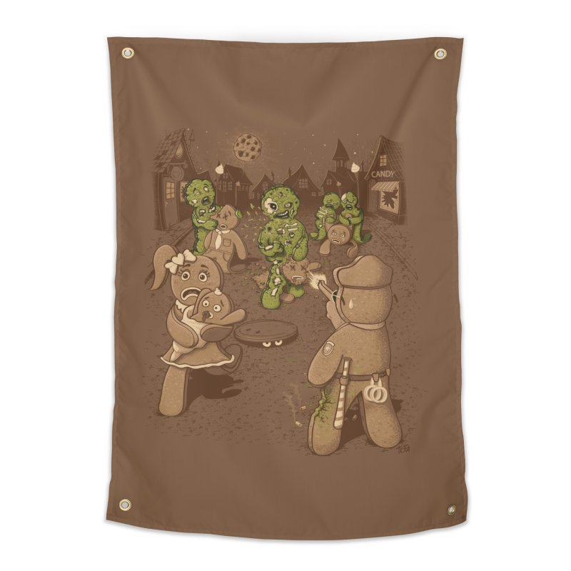 The Walking Bread Home Tapestry by Made With Awesome