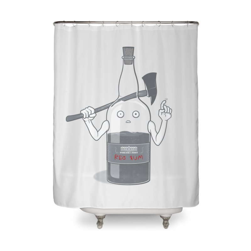Red Rum Home Shower Curtain by Made With Awesome