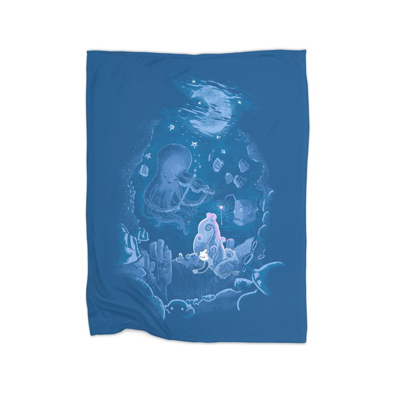 Sleeping With The Fishes Home Blanket by Made With Awesome