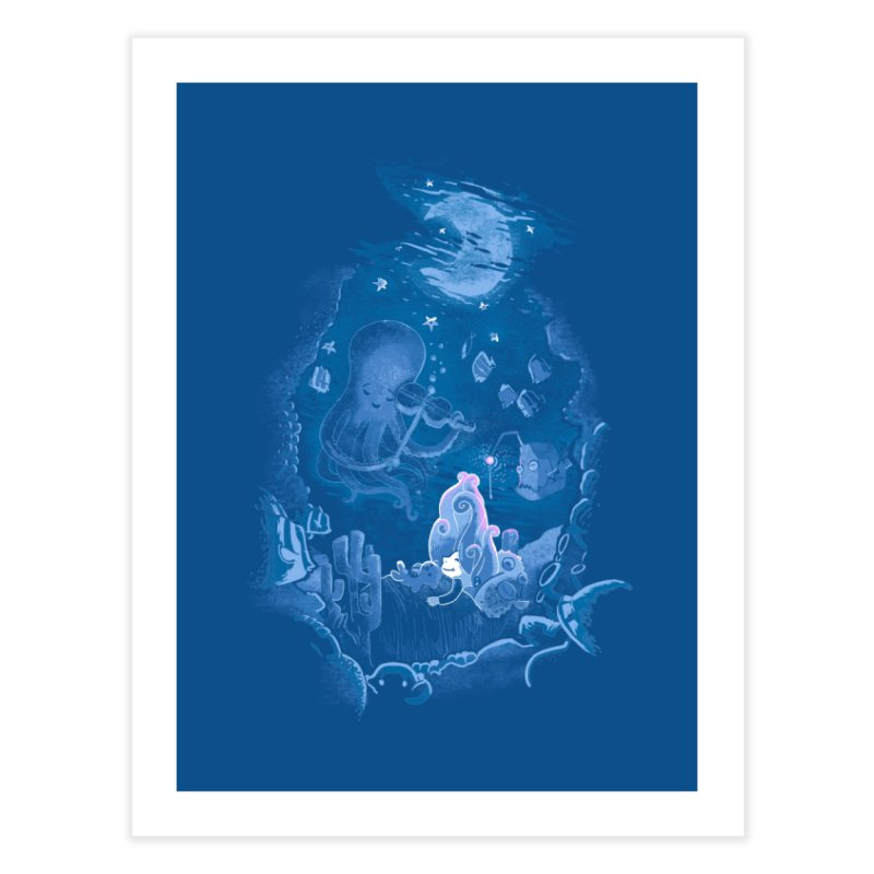 Sleeping With The Fishes Home Fine Art Print by Made With Awesome
